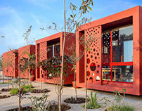 Shibori Site Office in Ahmedabad by tHE gRID Architects