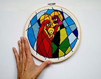Holy Family/Presépio - Embroidery Art