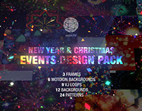 New Year and Christmas Events Design Pack