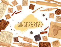 Illustrations for gingerbread workshop