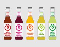 HAND ZU HAND - logo & packaging for organic drinks
