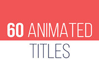 60 Animated Titles // Videohive