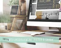 Huwelijksdrukwerk 'Sarah & Pieter'