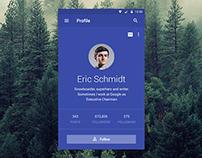 Material Designed Profile App