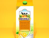 Indomilk 1.5 Litre Pack Redesign