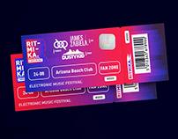 """RITMIKA""-Electronic Music Festival Logo & Branding"