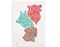 """If dogs ruled the world"" - screen print limited series"