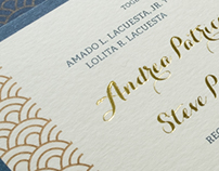 Wedding Invitation: Andrea & Steve