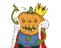 "ilustrated logo for ""king pumpkin"""