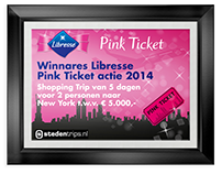 Libresse Pink Ticket Waardecheque