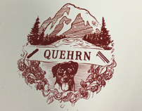 Quehrn Wedding Invitation Illustration