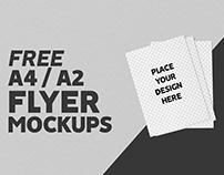 Free A4/A2 Flyers Mockup
