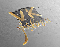 VK fashion logotype design