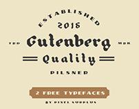 PILSNER & GUTENBERG - 2 FREE FONTS