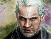 Geralt from Rivia The Witcher 3 fanart