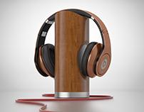 Headphones stand concept