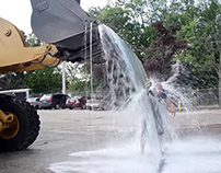 Video: 600 Gallon ALS Ice Bucket Challenge