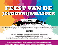 Poster Feest van de Jeugdvrijwilliger 2016