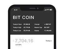 Cryptocurrency Monitor App Concept