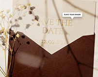Save The Date Envelope Mockup Scene