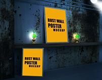 Rust Wall Poster Mockup