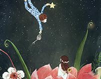 stars, flowers, pray