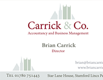 Corparate Identity Carrick & Co. Accountants