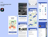 Car Parking Mobile App UI/UX (ParkMobile/BestParking)