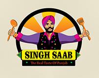 Singh Saab Restaurant Branding