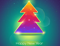 Stock vector illustrations for New Year hollidays