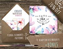 Watercolour floral DIY+Bonus