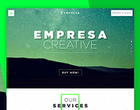 Empresa - Onepage PSD for Creative
