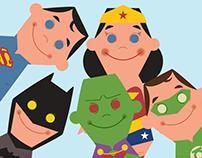 Mini DC Comics Superheroes Vectors