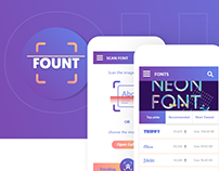 Fount-Mobile app to find the unknown Fonts (Concept UI)