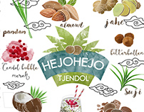Hejo Hejo Mural Illustration