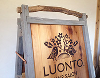 WOODBURNING SIGNBOARD
