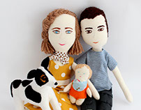personalized dolls (family cruz)