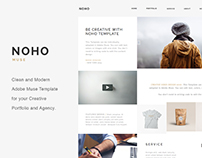 NOHO Creative Portfolio Adobe Muse & Wordpress Template
