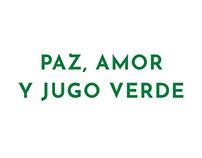 Paz, amor y jugo verde - Diseño editorial