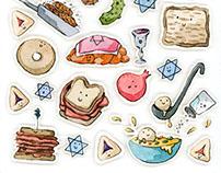 Jewish Food Painting