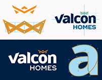 Valcon Homes Logo & Identity