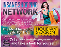 Insane Shopping Network 4x6 in Print Ready Flyer Design