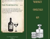 Quays Bar,Temple Bar,Dublin- Whiskey,Cocktail,Gin Menu