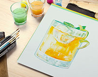 Mojito Illustration: Northshore Magazine Commission