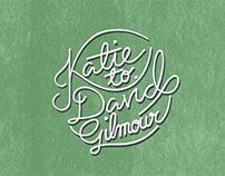 Gilmour Wedding - Typography & Print Design
