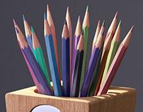 Supersize pencil sharpener pen-pot
