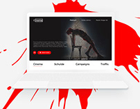 """Ciinema"" Webste design concept"