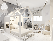 Children's room Scandinavian style