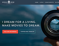 Giselle Lucas Films Website - Interface Design