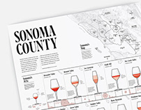 Sonoma County Infographic Poster